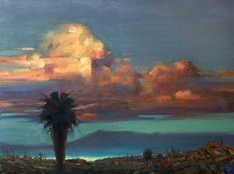 LAST LIGHT, SAN JOSE oil on canvas 18 x 24 inches